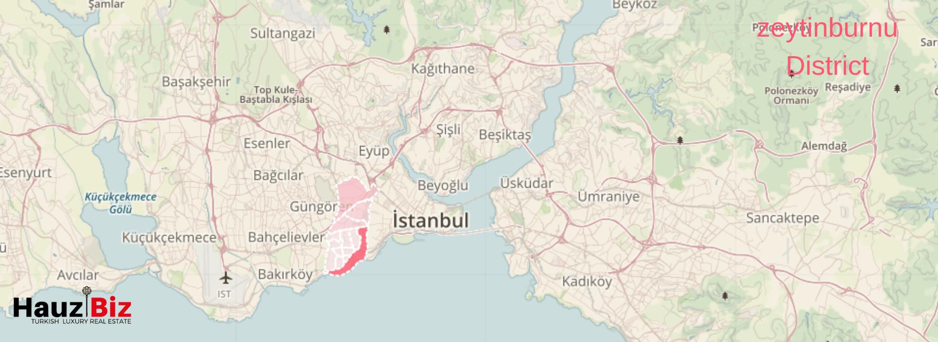 zeytinburnu map